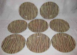 Cute Set Of 8 Revol Made In France Bamboo Dessert Cheese Wine Plates - $65.09