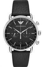 Emporio Armani AR11143 Chronograph Black Leather Strap Men's Watch - $253.99