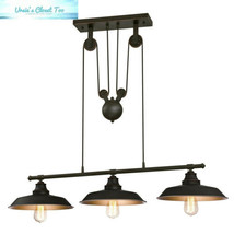 Westinghouse 6332500 Iron Hill Three-Light Indoor Island Pulley Pendant, Oil... - $107.96