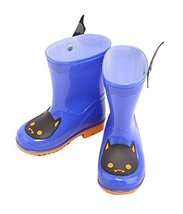 Cute Starry Kids' Rain Boots Blue Bat Children Rainy Days Shoes 16.5CM