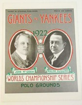 1922 World Championship Series NY Giants v NY Yankees Ltd. Ed Reprint - $18.81