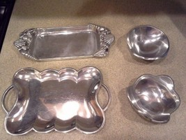 Lot of Serving Dishes - Aluminum - Trays and Bowls - ₨2,887.67 INR