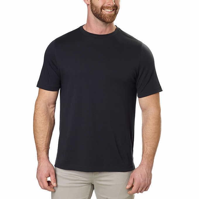 Kirkland Signature Men's Black T-Shirt Tee Cotton Classic Fit Big & Tall CHEAP - $29.99