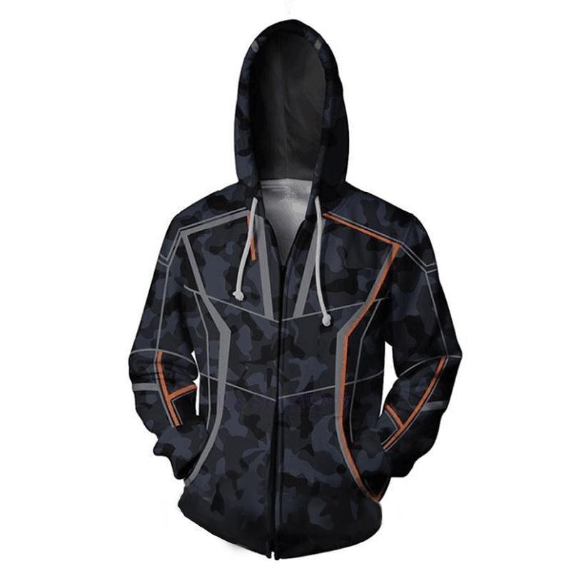 Infinity War Iron Man Cosplay Costume Hoodie Tony Stark Jacket Sweatshirt Coat