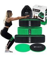 Hip Resistance Bands & Core Slider Exercise Set – 3 (Green & Black) - $49.55