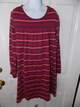 HANNA ANDERSSON  JERSEY KNIT STRIPED  LONG SLEEVE DRESS SIZE 140 GIRL'S EUC - $21.06