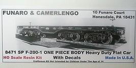 Funaro & Camerlengo HO SP F-200-1  ONE PIECE BODY Heavy Duty Flat Car kit 8471 image 1