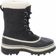 Sorel Women's Waterproof Leather and Suede Black/Stone Caribou Winter Boots NIB image 4