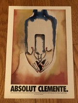 Absolut Clemente Original Magazine Ad - $1.99