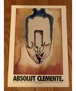 Absolut Clemente Original Magazine Ad - $1.99