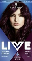 2 x Schwarzkopf Live MYSTIC VIOLET PURPLE for dark colours Permanent hair dye - $23.71