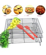 Bakery Cooling Rack 3 Layer Stainless Steel Nonstick Foldable Cake Dryin... - $23.27