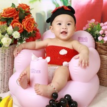 Baby Inflatable Chair Seats PVC Infant Bath Seats Playing bathing Dining... - $30.72