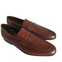 L-3962156 New Salvatore Ferragamo Rocco Brown Leather Loafers Shoes Size... - $458.54 CAD