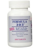 Dee Cee Labs Formula 303 Maximum Strength Natural Relaxant Tablets, 250 ... - $83.98