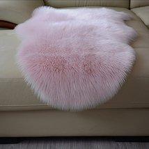 HUAHOO Faux Fur Sheepskin Rug Light Pink Kids Carpet Soft Faux Sheepskin... - $49.99