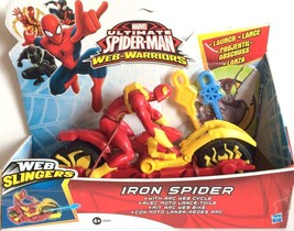 Marvel Ultimate Spiderman Web Slinger Iron Spider with Arc Web Cycle - $21.49