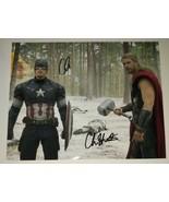 Chris Hemsworth &  Chris Evans Hand Signed 8x10 Photo COA Avengers - $299.99
