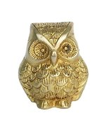 Aakrati Brass Animal Figure of Owl - Metal Decor Decorative Table showpi... - $26.99