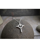 """Power Cross Pendant - Sterling Silver Pendant on 18"""" Sterling Silver Cha... - $73.00"""