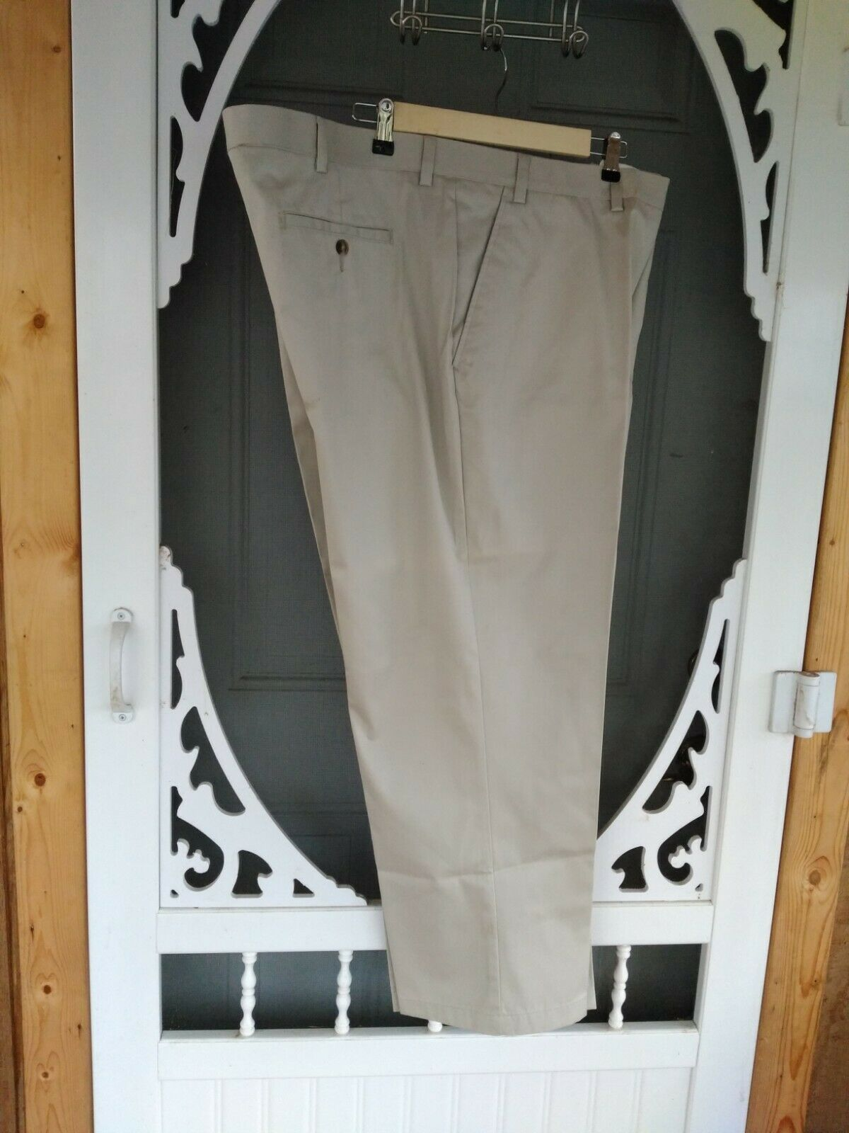 "Primary image for Men's Pants ""George"" 48x30 Flax Color  Excellent Condition"
