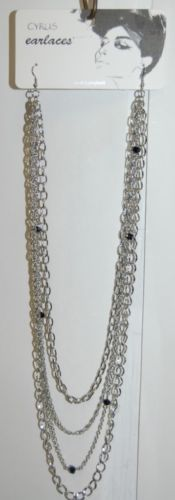 Cyrus Earlaces SNE30097RH Silver Colored Earlaces Four Strands