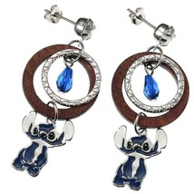 Disney Store Japan Silver Beads Earrings Stitch Summer Wardrobe Ornament - $52.47