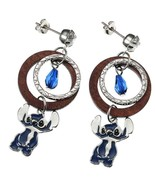 Disney Store Japan Silver Beads Earrings Stitch Summer Wardrobe Ornament - $52.47