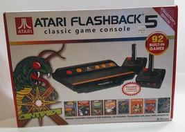 ATARI FLASHBACK 5 CLASSIC GAME CONSOLE 92 GAMES WIRELESS CONTROLERS PLUG... - $15.00