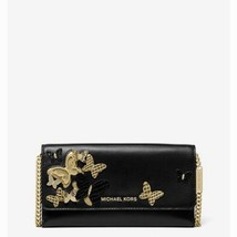NWT Michael Kors Large Butterfly Embellished Leather Convertible Chain W... - $153.93