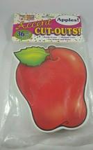 School Teacher Apples Accent Cutouts Ready to Use for School 36 Precut P... - $8.86