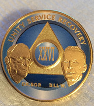 Gold Plated AA Alcoholics Anonymous Founders Medallion Chip Any Year & C... - $20.39