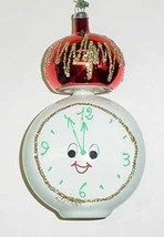 Vintage Glass CLOCK Christmas Ornament - Italy - NOS - $30.00