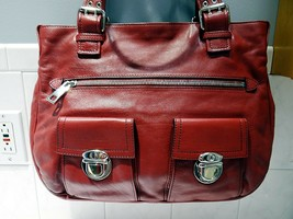 Marc Jacobs Large Stella Candy Apple Red Tote w/Silver Hdware - MINT! - $98.99