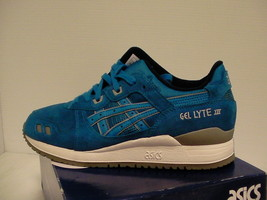 Asics running shoes gel-lyte iii size 8.5 us men blue new with box - $79.15