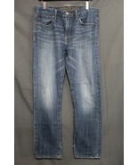 Men's AE Slim Jeans Faded Medium Blue Wash Distressed American Eagle 32 ... - $18.94