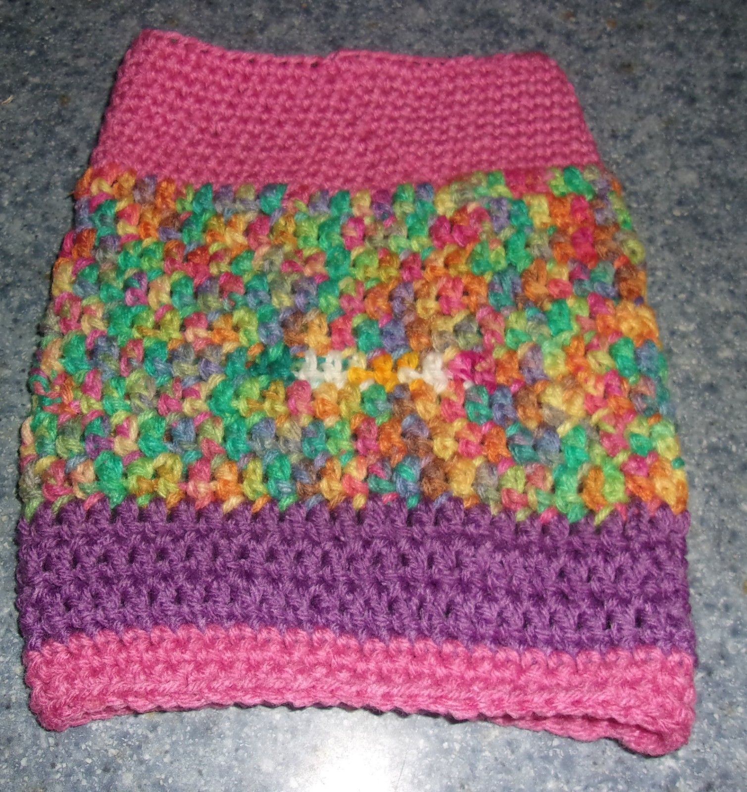 Brand New Hand Crocheted Pink Dog Snood Neck Warmer For Dog Rescue Charity