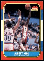 1986-87 Fleer Basketball Premier Albert King New Jersey Nets #59 OF 132 - $0.50