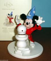 Lenox Disney Mickey Mouse Sorcerer Lighted Figurine Globe Lights Up! New - £45.95 GBP