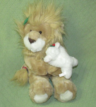 """12"""" 1994 Commonwealth Vintage Lion and the Lamb Plush Stuffed Animal Toy... - $14.85"""