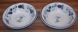 "Princess House Orchard Medley 7 1/4"" Soup/Cereal/Salad Bowl/Set Of TWO/E... - $13.99"