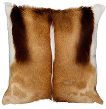 "Top Quality Springbok Skin Pillow Case 17x17""  (similar to cow hide skin pillow) - $79.19"