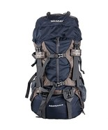 55L Internal Frame Backpack Hiking Travel Climbing Camping with Rain Cover - £74.45 GBP