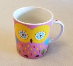 Miya Jewel Pink OWL Coffee MUG Made Japan Birds Colorful Art Gift China ... - $14.54