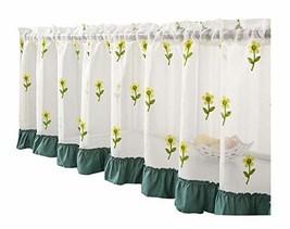 DRAGON SONIC Translucent Short Home Curtain Cafe Tier Curtain Gauze 13 - $28.40
