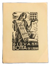 Ex Libris Exlibris Bookplate Giovanni Botta Armando Baldinelli - $29.69