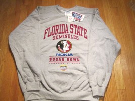 Florida State Seminoles Nokia Sugar Bowl 2003 Gray Sweatshirt XL NCAA # 15 - $9.99