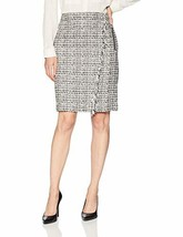 Calvin Klein Women's Graphic Tweed Pencil Skirt (16|Black/Multi) - $131.88