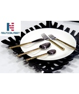 Al-Nurayn Brass cutlery set,gold flatware,stainless steel cutlery  - $49.00
