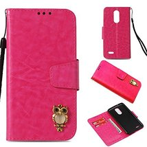 LG Aristo Case,Gloryshop Bling Crystal Owl Wallet Cover Flip Folio Leath... - $7.91